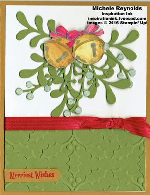 Christmas magic bells and mistletoe watermark