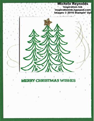 Santa's sleigh snowy pines watermark