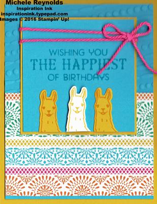 Birthday fiesta llama wishes watermark