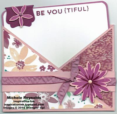 Flower patch criss cross card watermark