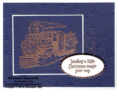 Christmas magic copper train watermark