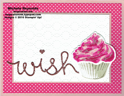 Sweet cupcake glitter wish watermark