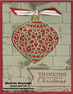 Embellished ornaments cherry gold ornament watermark