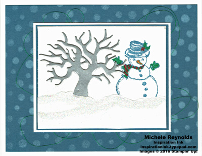 Christmas magic snowman and tree watermark