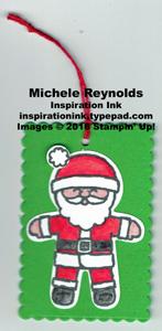 Cookie cutter christmas santa tag watermark