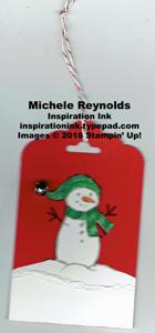 Jar of cheer snowman tag watermark