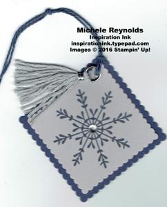 Tin of tags blue snowflake tag watermark