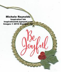 Merriest wishes joyful holly tag watermark