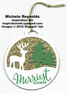 Merriest wishes reindeer tag watermark