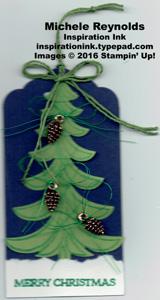 Santa's sleigh tree tag watermark