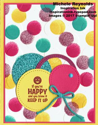 Designer tee happy dots watermark