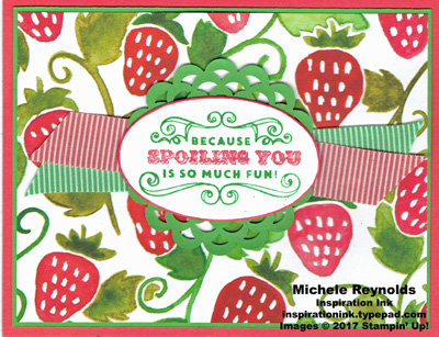 Carousel birthday spoiling with strawberries watermark