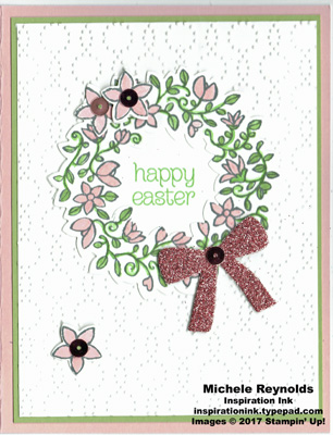 Circle of spring easter wreath watermark