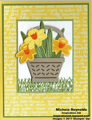 Basket bunch daffodils basket watermark
