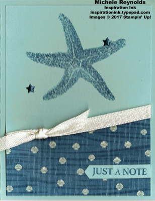Picture perfect sea star note watermark