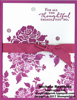 Floral phrases berry thoughtful things watermark