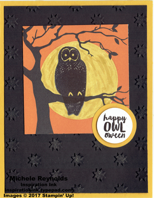 Spooky cat full moon owl watermark