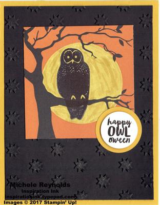Spooky cat full moon owl watermark