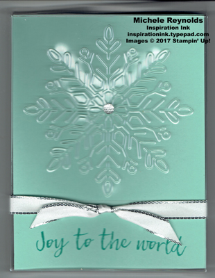 Hearts come home snowflake card box watermark