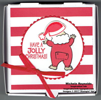 Santa's suit mini pizza box watermark