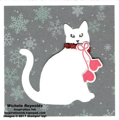 Santa's suit mittens cat watermark