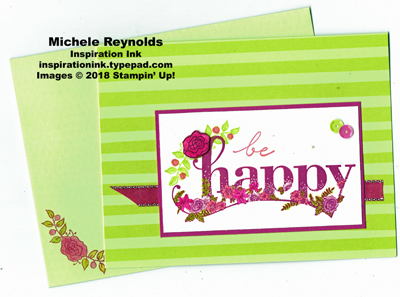 Happy wishes tutti frutti flowers watermark