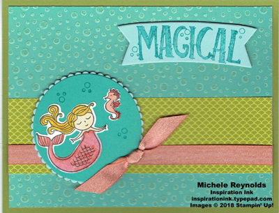 Magical day mermaid bubble magic watermark