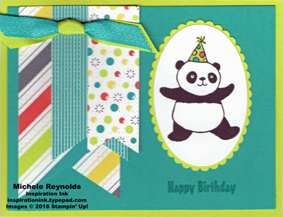 Party pandas bubble banners watermark
