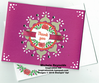 Lots of lavender medallion roses watermark