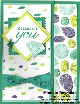 Birthday blossoms jeweled celebration watermark