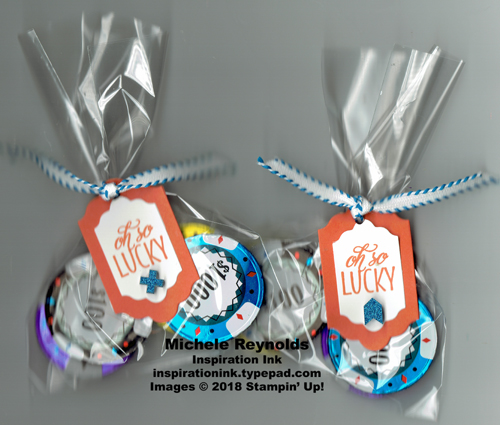 Lovely friends lucky poker chip candies watermark