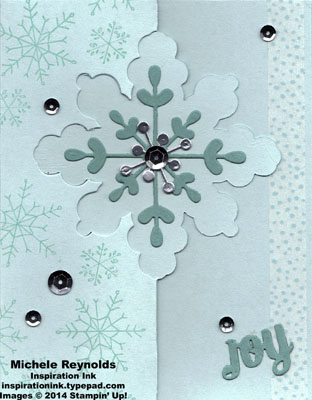 Endless wishes snowflake joy flip card watermark