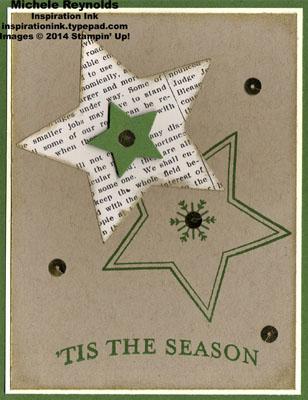 Many merry stars seasonal stars watermark