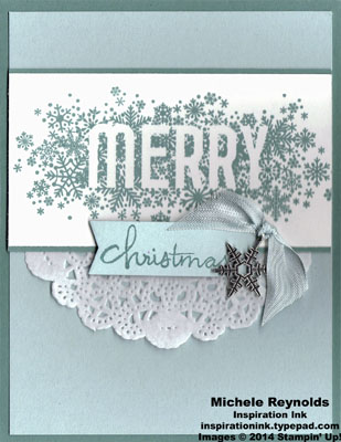 Seasonally scattered merry snowflake charm watermark