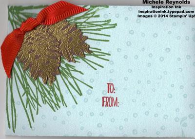 Ornamental pine cones gift card holder watermark