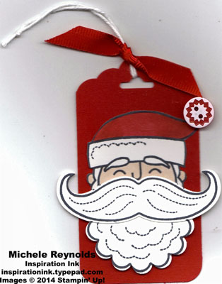 Santa stache santa tag watermark