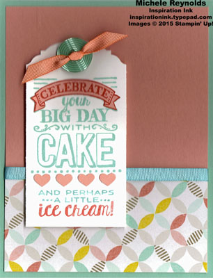 Big day cake and ice cream tag watermark