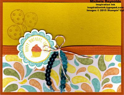 Sketched birthday cupcake swirls watermark