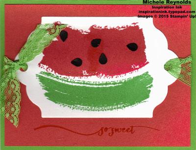 Work of art sweet watermelon watermark