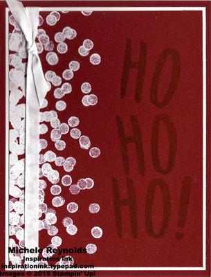 Layered letters alphabet snowy ho ho ho watermark