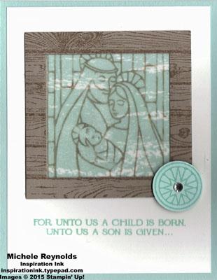 Gentle peace framed nativity watermark