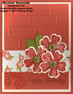 Birthday blossoms brick wall pretty petals watermark