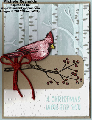 Joyful season snowy woods cardinal watermark