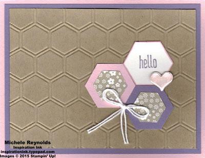 Honeycomb hello hello hexagons watermark