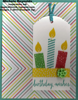 Build a birthday candles tag watermark