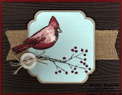 Joyful season curvy corner framed cardinal watermark