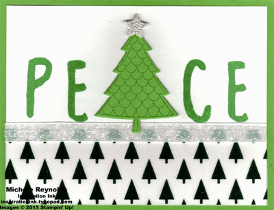 Peaceful pines peace tree watermark