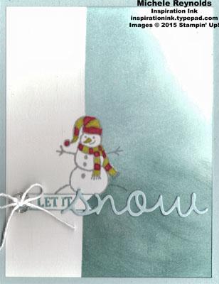 Sparkly seasons snow line snowman watermark