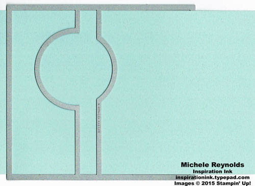 Circle card thinlit extension watermark