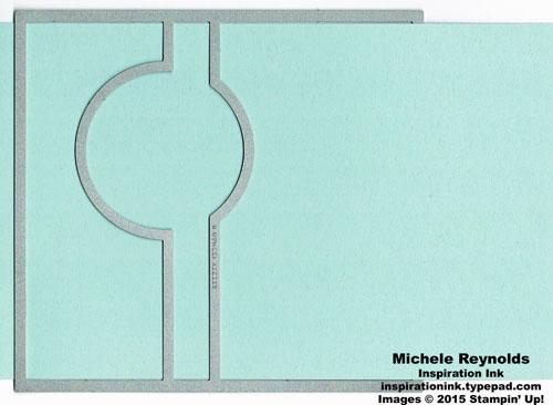 Circle card thinlit extension watermark